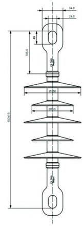 Izolator kompozytowy CS 70 E 24E-170/760 (odpowiednik LP) - BEZPOL