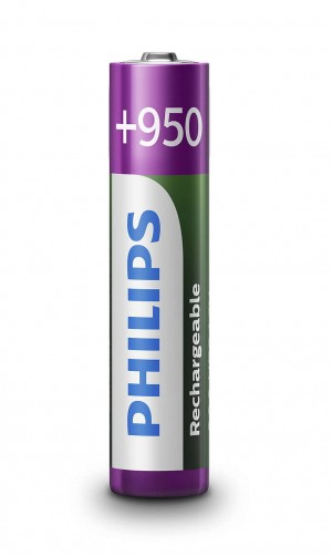 Akumulator Ni-MH (blister 4 sztuki) R03 950mAh Philips Multilife R03B4A95/10 - PHILIPS