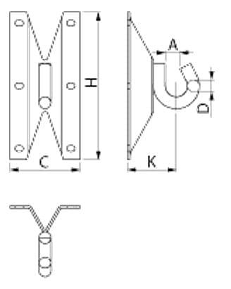 ENSTO SOT28.2 Hak naścienny M16 (UN-N)