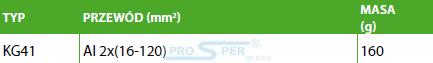 ENSTO KG41 Zacisk szynowy Al 16-120 (UN-N)