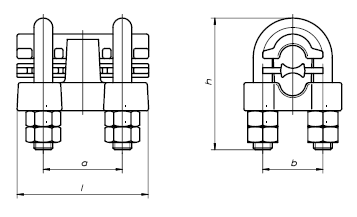 BELOS NK 2431 Uchwyt śrubowo kabłąkowy (150-185 Al/Al) - BELOS