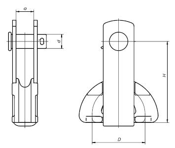 BELOS NK 23255 Uchwyt odciągowy kabłąkowy widlasty (6-12mm) - BELOS