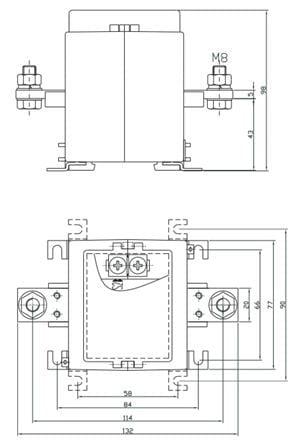 Przekładnik IMW 100/5 5VA kl 0.2 FS5 - z wypustem płaskim 20x5 mm (FANINA IWF) firmy ABB (rys schemat zamów)